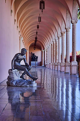 Statue - Loggia Print by Nikolyn McDonald