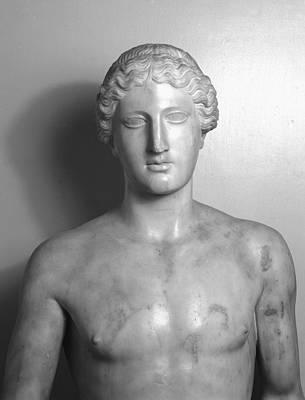 Statue Of Apollo Print by Roman School