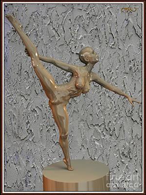 Statue Of Erotic Acrobats 113 Print by Pemaro