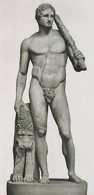 Statue Of Hercules Print by Roman School