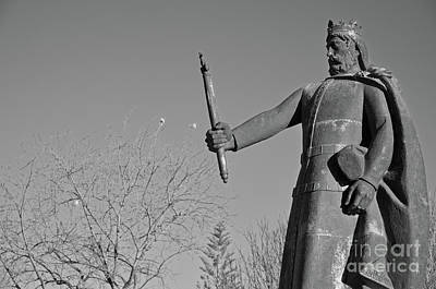 Tree Photograph - Statue Of King Afonso The Third. Portugal by Angelo DeVal