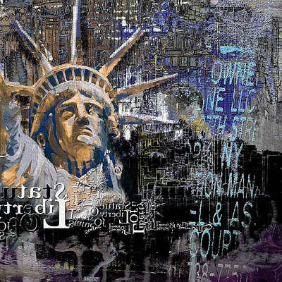 Statue Of Liberty Painting - Statue Of Liberty 204 1 by Mawra Tahreem