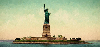 Statue Of Liberty Circa 1905 Print by John K Woodruff