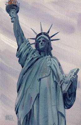 Statue Of Liberty Painting - Statue Of Liberty by Donald Maier