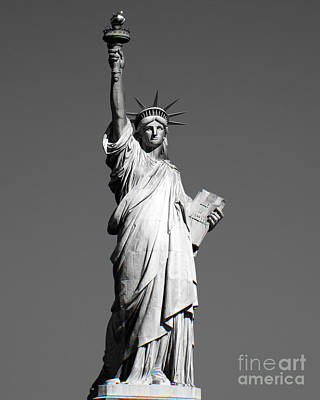 Statue Of Liberty Stands Print by Juan Romagosa