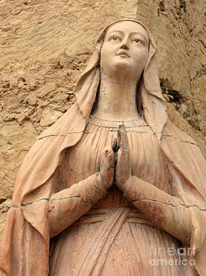 Mother Mary Photograph - Statue Of Mary Closeup by Carol Groenen