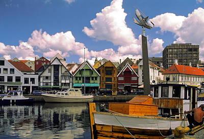 Stavanger Harbor Print by Sally Weigand