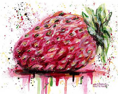Stawberry 1 Original by Arleana Holtzmann