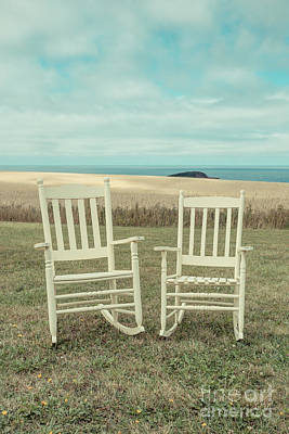 Empty Chairs Photograph - Stay Awhile Prince Edward Island by Edward Fielding
