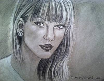 Taylor Swift Drawing - Stay Beautiful by Maria Ferrante