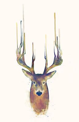 Deer Mixed Media - Steadfast by Amy Hamilton
