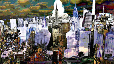 Digital Art - Steal The City by Mary Clanahan
