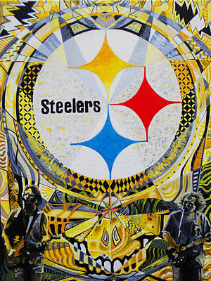 Pittsburgh Steelers Painting - Steal Your 3 Rivers by Kevin J Cooper Artwork