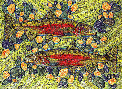 Stealhead Trout Print by Debbie Chamberlin