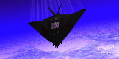 Twin Flame Painting - Stealth Fighter Jet by Corey Ford
