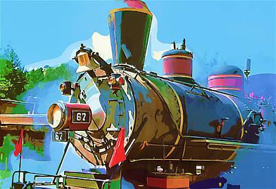 Steam Engine 67 Original by Dale Stillman