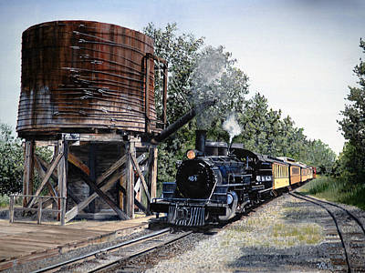 Steam Engine Train Original by Vicky Path