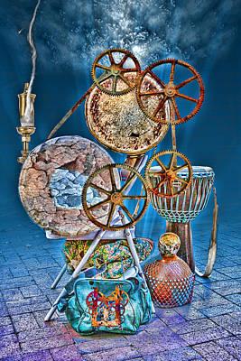 Steam Punk Drum Circle Print by John Haldane