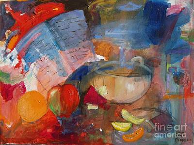 Cookbook Painting - Steam by Robin Maria  Pedrero