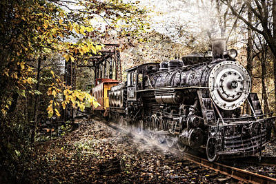Smokey Mountain Drive Photograph - Steam Train's Coming by Debra and Dave Vanderlaan