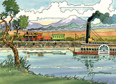 Steamboat Print by Valer Ian