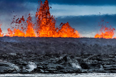Steaming Photograph - Steaming Lava And Plumes by Panoramic Images