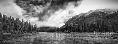 Steaming Mountains Print by Ian MacDonald