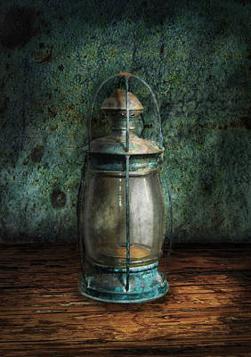 Photograph - Steampunk - An Old Lantern by Mike Savad