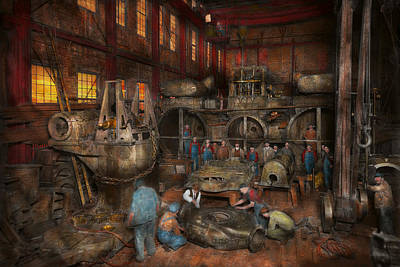 Steam Photograph - Steampunk - Final Inspection 1915 by Mike Savad