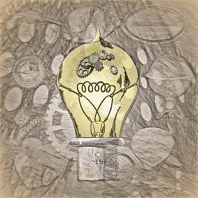 Steampunk Ideation 2 - Da Vinci Styling Print by Steve Ohlsen