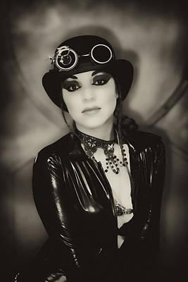 Femme Photograph - Steampunk Mechanic by Hugh Smith