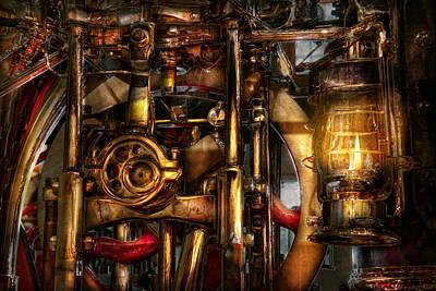 Steampunk - Mechanica  Print by Mike Savad