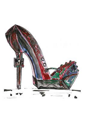 Steampunk Shoe Print by Marian Voicu