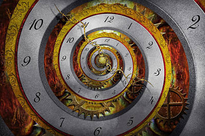 Mikesavad Photograph - Steampunk - Spiral - Infinite Time by Mike Savad