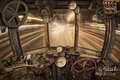 Manipulation Photograph - Steampunk Time Machine by Keith Kapple
