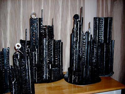 Sculpture - Steel Buildings 2 by Don Thibodeaux