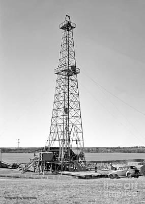 Oklahoma Photograph - Steel Oil Derrick by Larry Keahey