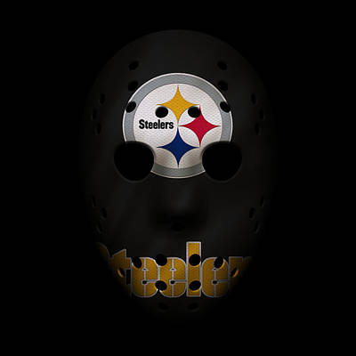 Steelers Photograph - Steelers War Mask by Joe Hamilton