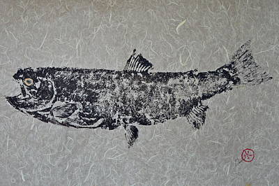 Salmon Mixed Media - Steelhead Salmon - Smoked Salmon by Jeffrey Canha
