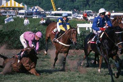 Edwin Warner Park Photograph - Steeplechase Spill - 1 by Randy Muir