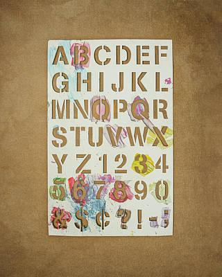 Art Paper Photograph - Stencil Alphabet Fun by Scott Norris