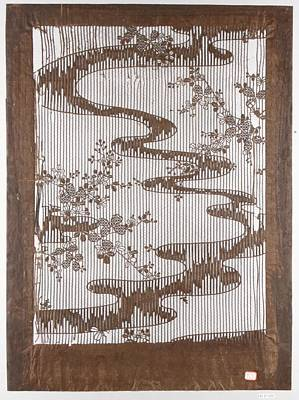 Stencil Painting - Stencil For Textile With Pattern Of Bush Clover And Meandering Stream by MotionAge Designs