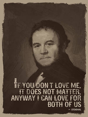 Stendhal Quote  Print by After Darkness