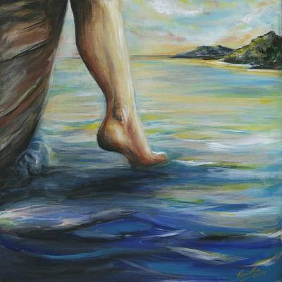 Strength Painting - Step Of Faith  by Pennie Strople