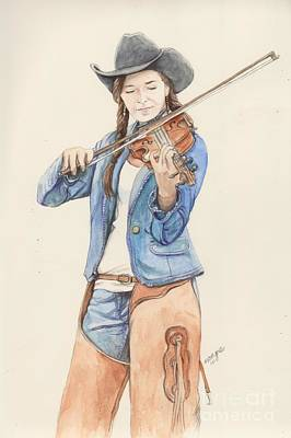 Cowgirl Mixed Media - Stephanie by Morgan Fitzsimons
