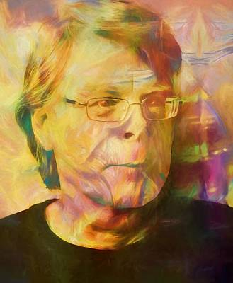 Author Mixed Media - Stephen King by Dan Sproul