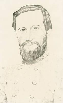 The General Lee Drawing - Stephen Lee by Dennis Larson
