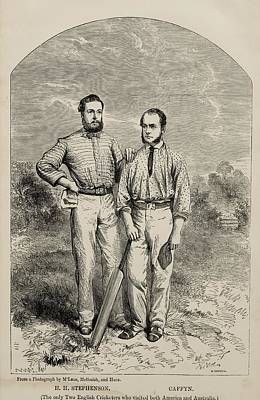 Cricket Drawing - Stephenson And Caffyn. H.h. Stephenson by Vintage Design Pics