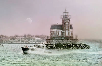 United States Coast Guard Photograph - Stepping Stones Lighthouse by Diana Angstadt