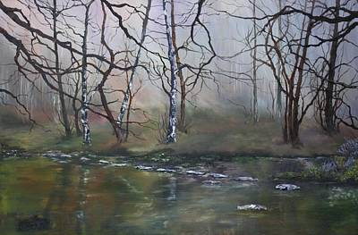 Stepping Stones On Cannock Chase Original by Jean Walker